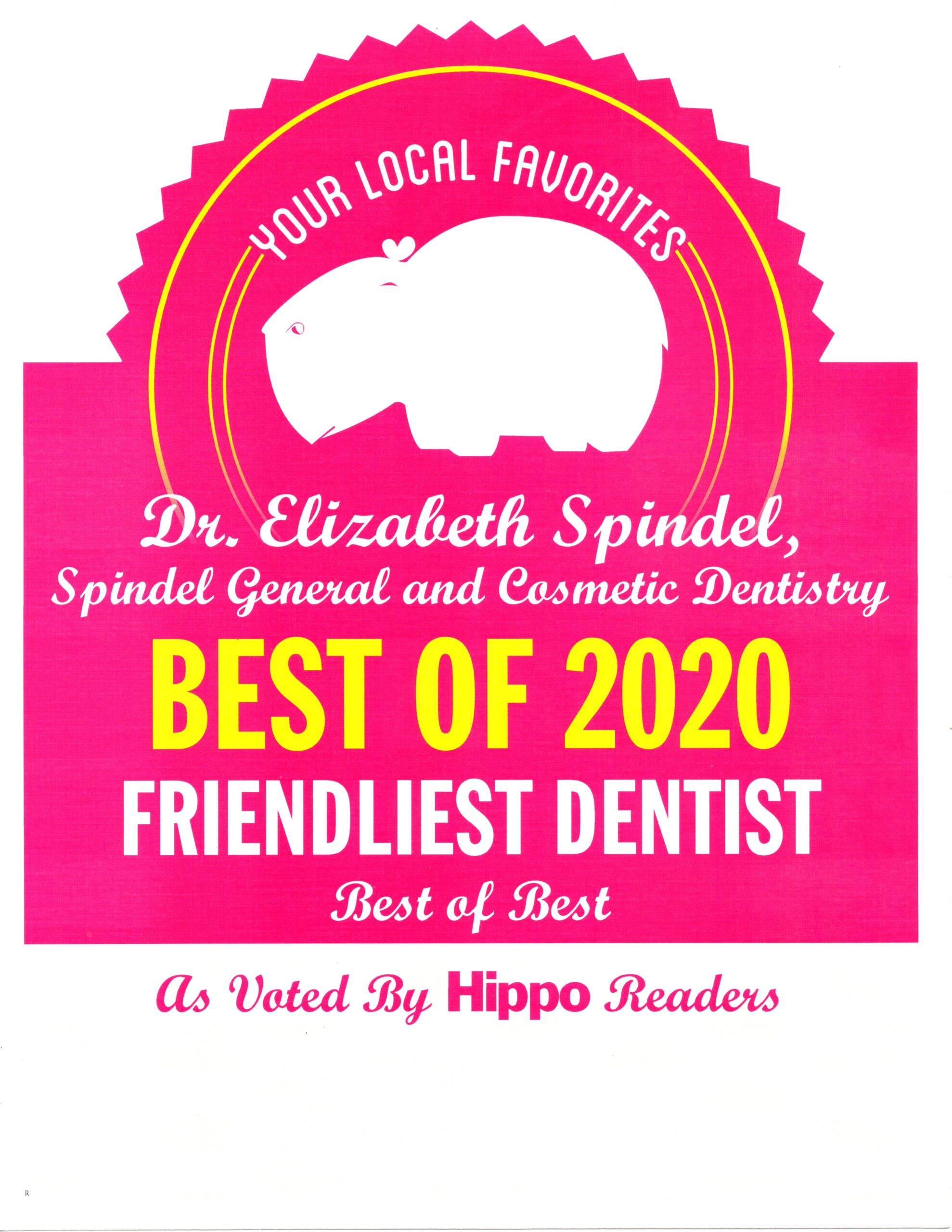 best of 2020 Friendliest Dentist The Hippo award