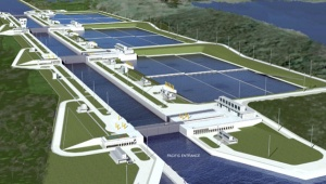 Artistic rendering of expanded canal.