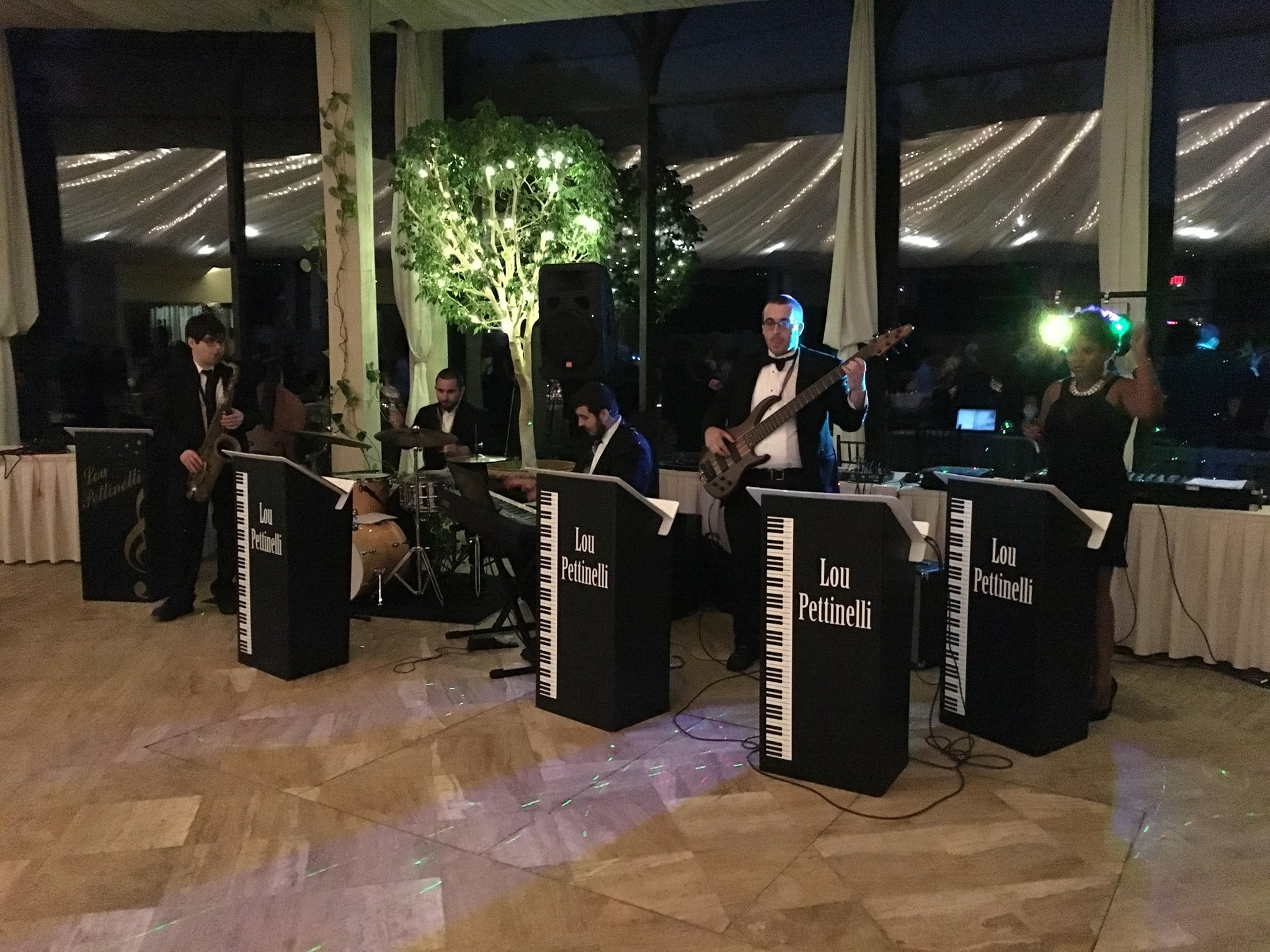 Louis Pettinelli Band Playing at Wedding Event