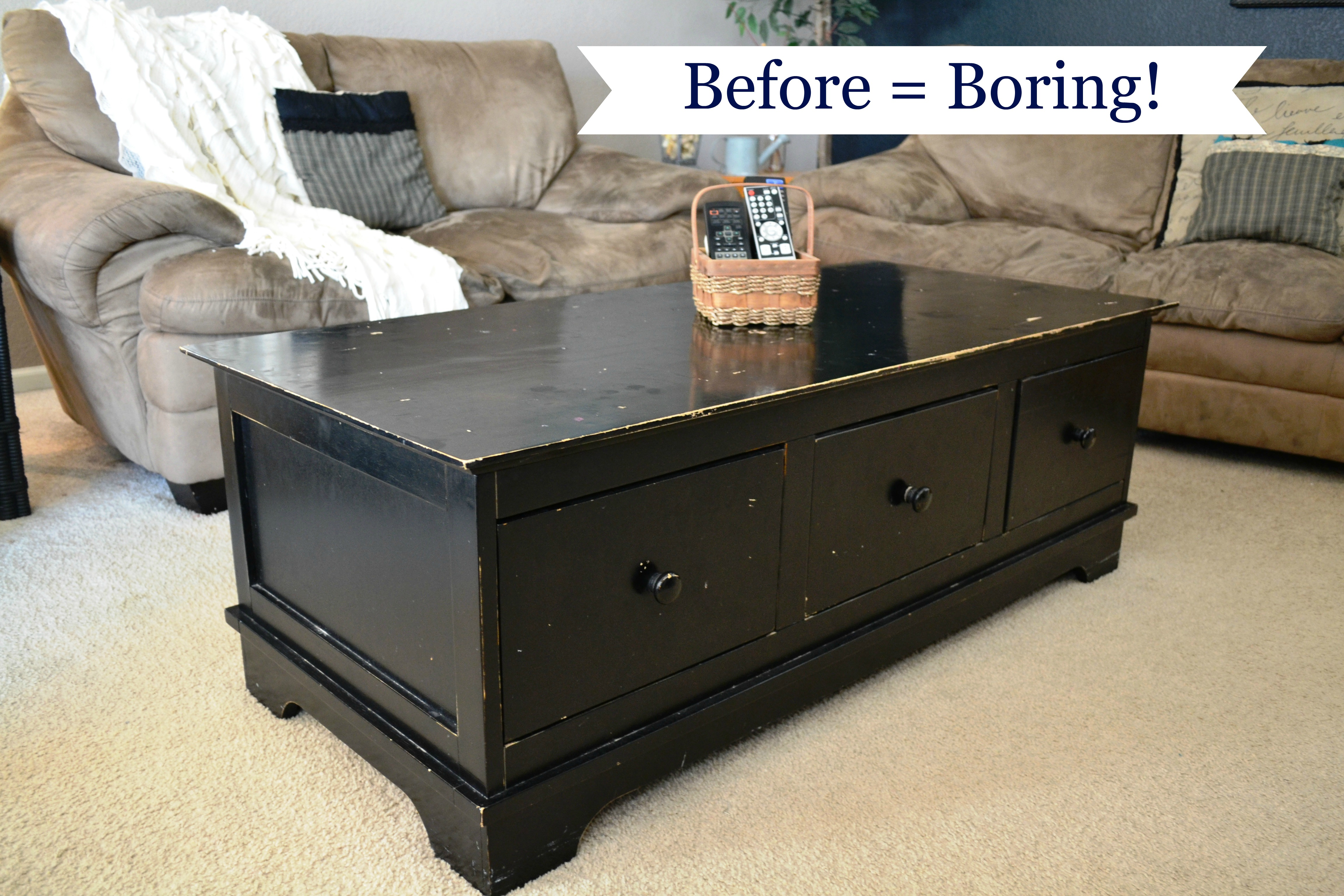 Boring coffee table... thehousedownthelane.com