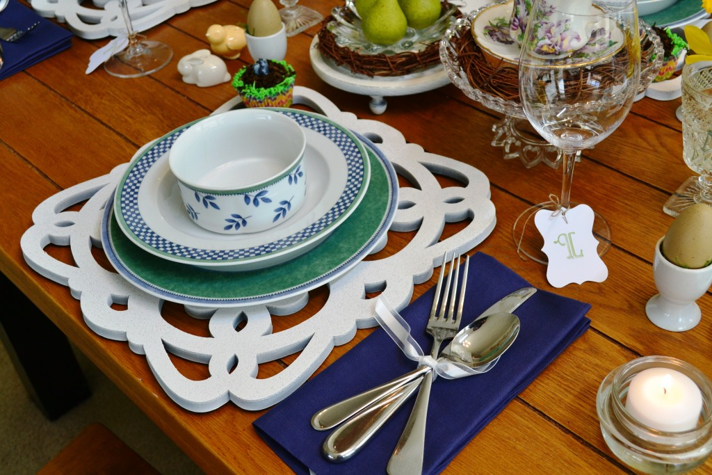 DIY Plate Chargers from thehousedownthelane.com #DIY #PlateChargers
