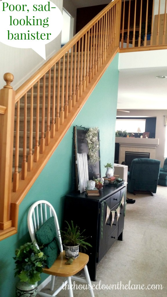 26 Weeks of Pinterest Projects: Banister Garland via thehousedownthelnae.com.