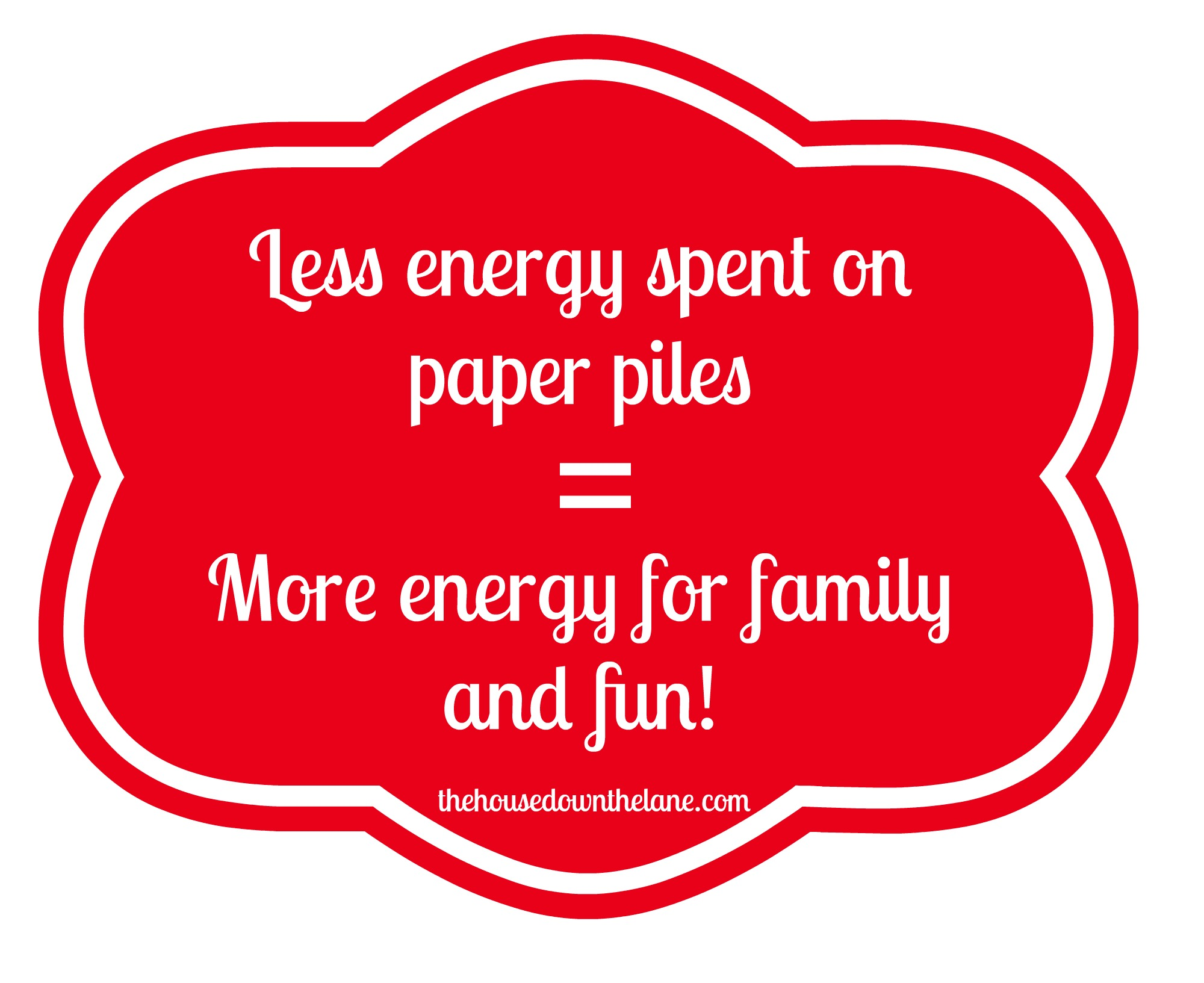 I'll Never Have Paper Piles Again! Are you drowning in paper piles? Are paper piles taking over your home and your life? You, too, can never have paper piles again with by creating a routine! Visit thehousedownthelane.com for all of the information on creating your routine!
