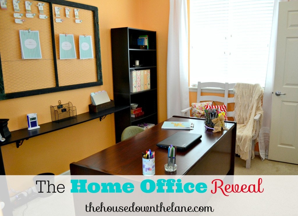 The Home Office Reveal is finally here!! From thehousedownthelane.com.