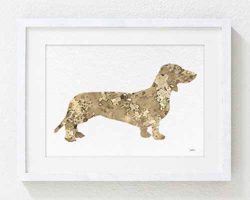 Dachshund Watercolor Art from ElfShoppe on Etsy.com