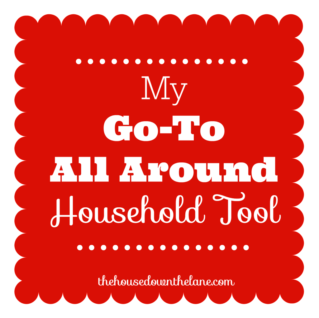 I have a favorite tool that I use around the house. It does amazing things without sticky residue or damage to my prize possessions! It is My Go-To All Around Household Tool! Do you know what it is? From thehousedownthelane.com
