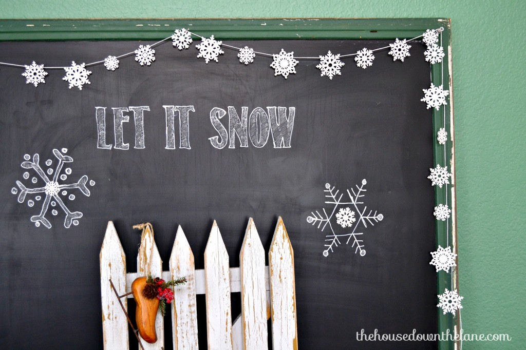 Shimmery DIY Snowflake Garland | The House Down the Lane