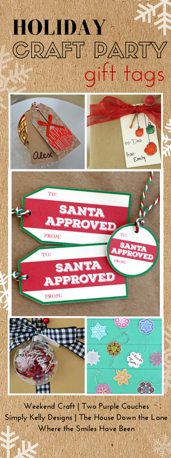 Holiday Craft Party ~ Gift Tags