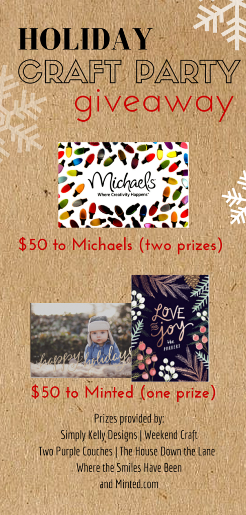 Holiday Craft Party ~ Giveaways