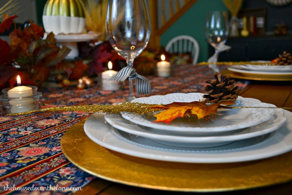 Thanksgiving Tablescape with DIY Chair Ties: Create & Share Challenge