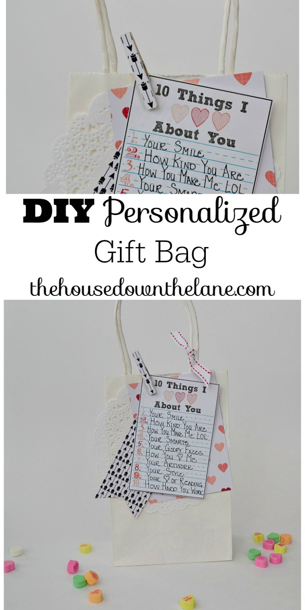 DIY Personalized Valentine's Gift Bag in Less Than 30 Minutes! | The House Down the Lane