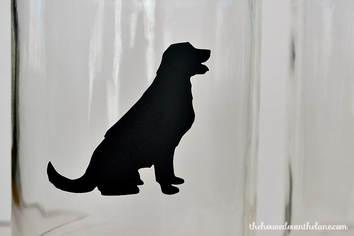 2 Simple DIYs for Pet Food Storage, part of our Hall Closet Makeover series. | The House Down the Lane