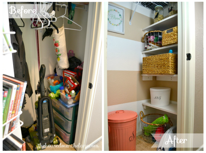 Our Hall Closet Makeover is *finally* D-O-N-E. And I'm thrilled with the result! Today, I'm sharing all of the details of our Hall Closet Makeover: Reveal and Printable with you! |The House Down the Lane