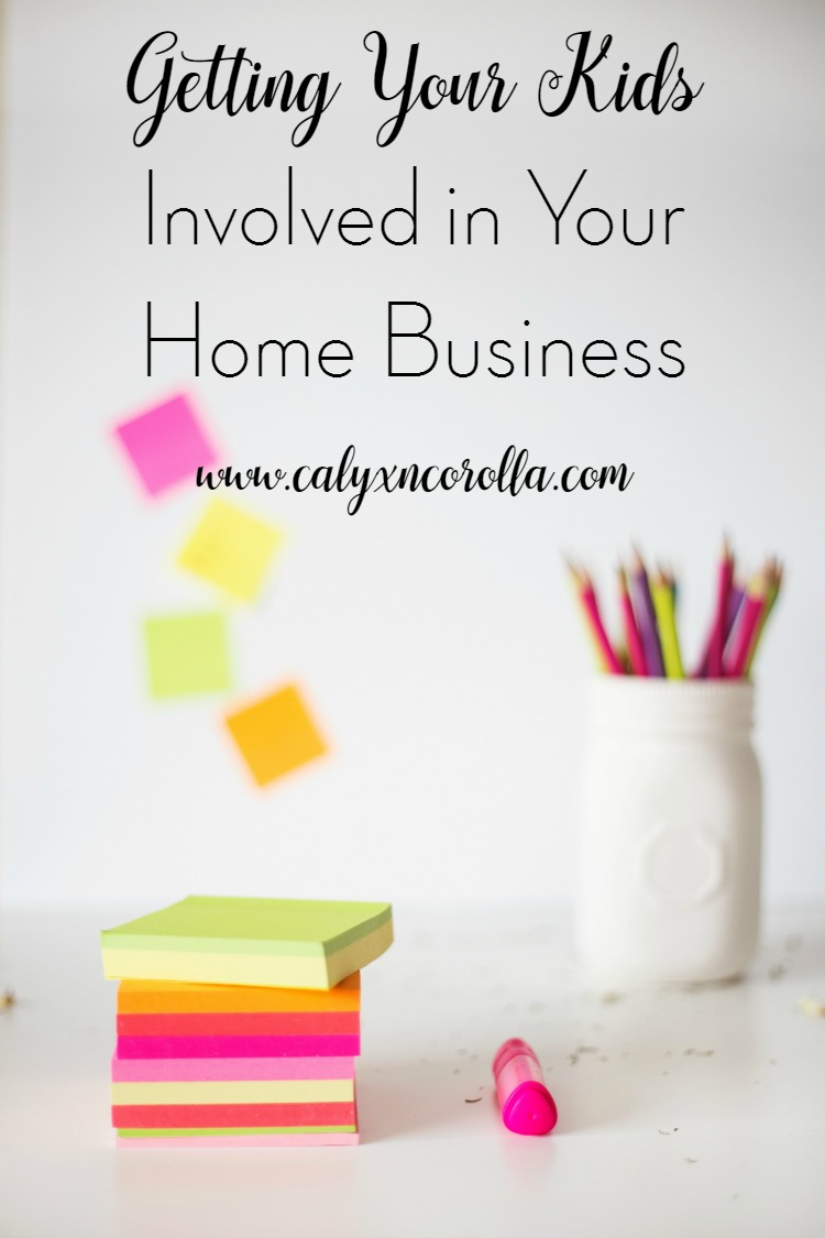 No matter how old your kids are, you can find ways to getthem involved in your home business. It's great for their self confidence, and it can garner you a little extra time to work your business.A little imagination and preparationis all you need. Here are a few ideas to get you started! | Calyx and Corolla