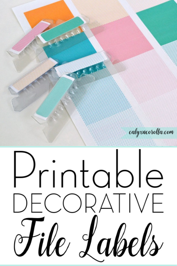 Printable Decorative File Labels | Calyx and Corolla
