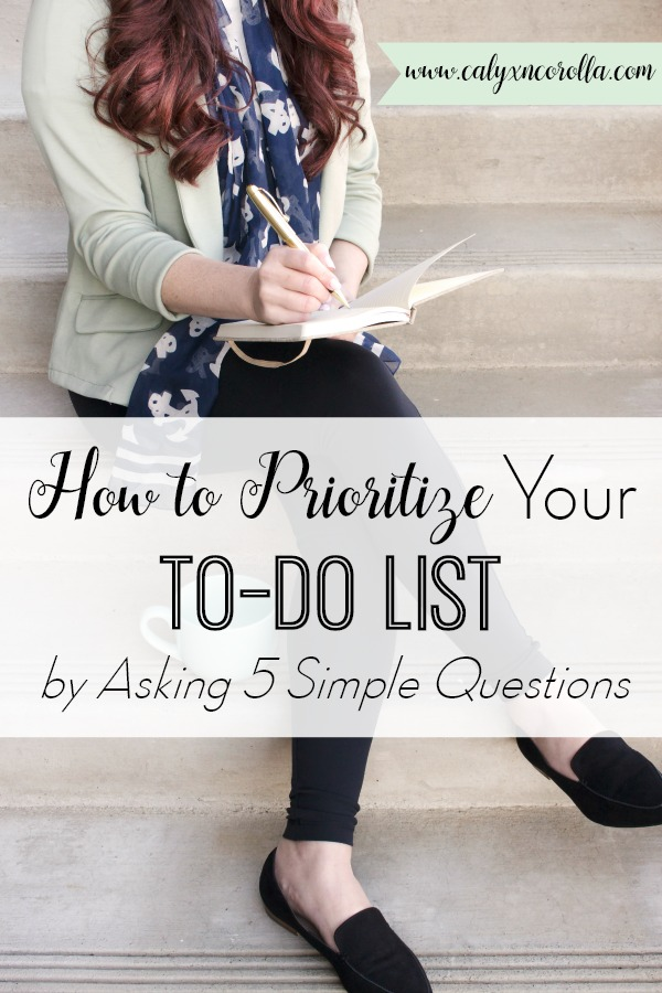 When your to do list is miles long, it's difficult to know what to tackle first. But I've discovered a secret—actually 5 of them—that will make it SO much easier to prioritize your to do list. These ideas will improve your time management and your productivity, too. And there's a printable! Don't miss these tips on how to prioritize your to-do list by asking 5 simple questions! #prioritize #prioritizetasks #taskmanagement #todolist #tasklist #productivity #timemanagement