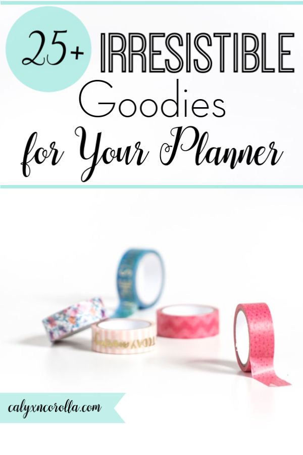 25+ Irresistible Goodies for Your Planner | Calyx and Corolla