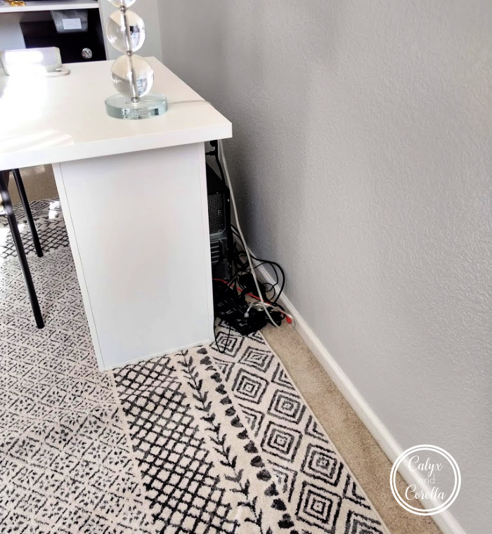 An Easy and Affordable Solution for Office Cord Clutter | Calyx and Corolla