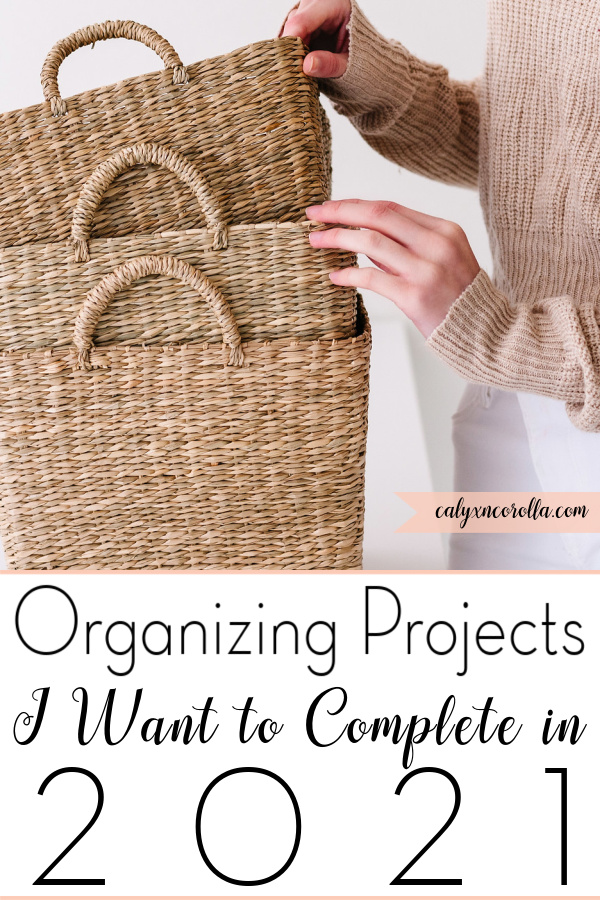 Organizing Projects I Want to Complete in 2021   Calyx and Corolla