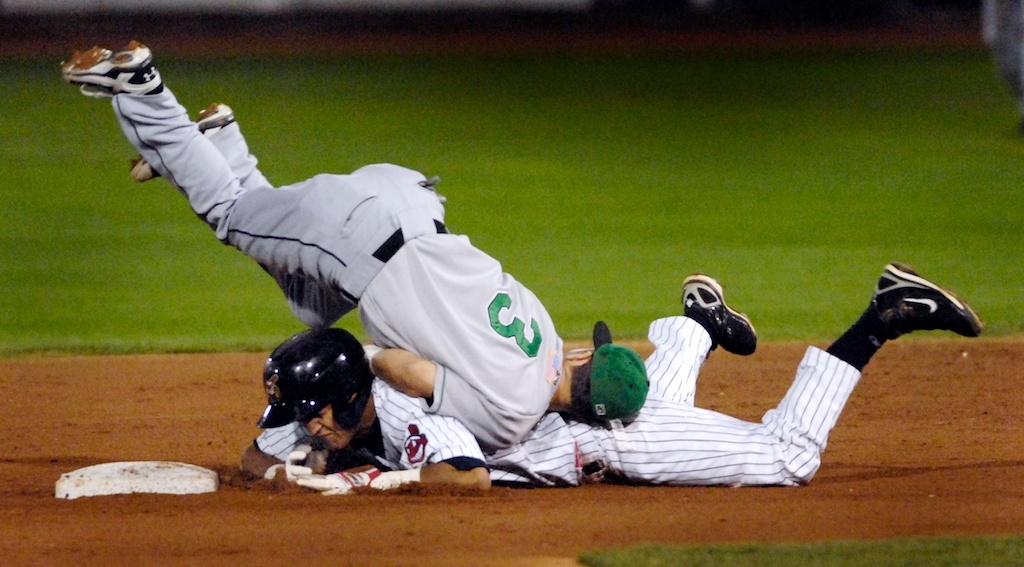 Second Base Collision