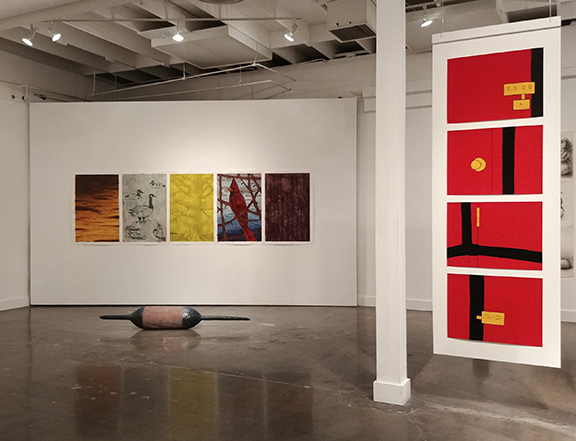 Installation view of the exhibition Consorts, College of Creative Studies Gallery, University of California Santa Barbara, October 13, 2018