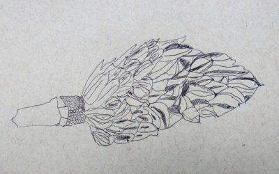 Gallery Botanical Contour Line Drawing inspired by Karen Kitchel