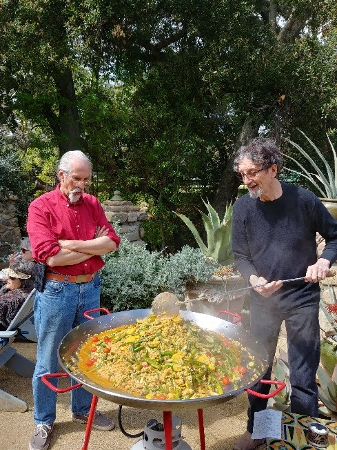 Carlos Grasso and Richard Keit at the Taste of the Masters Paella Feast  hosted by Richard Keit and Mary Kennedy of RTK Studios, March 8, 2020