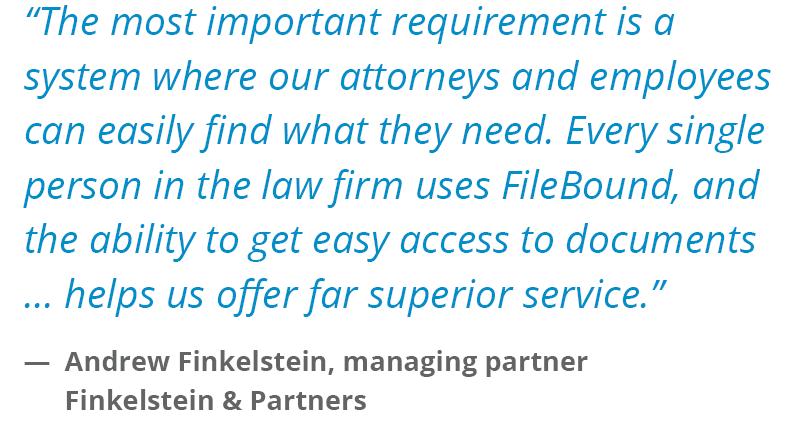 FileBound Testimonial Law