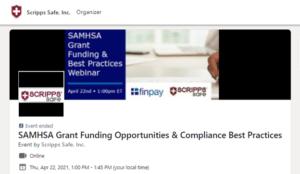 Scripps Safe SAMHSA Grant Funding webinar