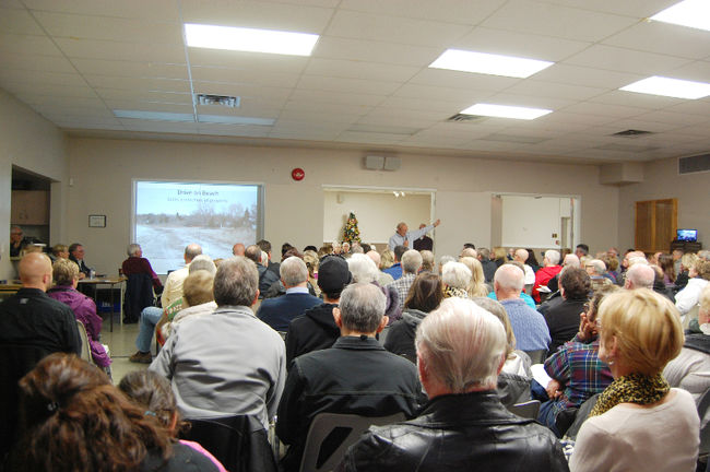 Dollars to act and governments to listen was a constant theme at the Centre Ipperwash Association (CICA) hosted meeting in Port Franks Saturday afternoon.