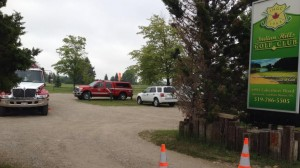 Officials continue to investigate naturally occurring gases being released from the ground in an area of the Indian Hill Golf Course north of Forest, Ont. on Thursday, June 18, 2015. (Sean Irvine / CTV London)