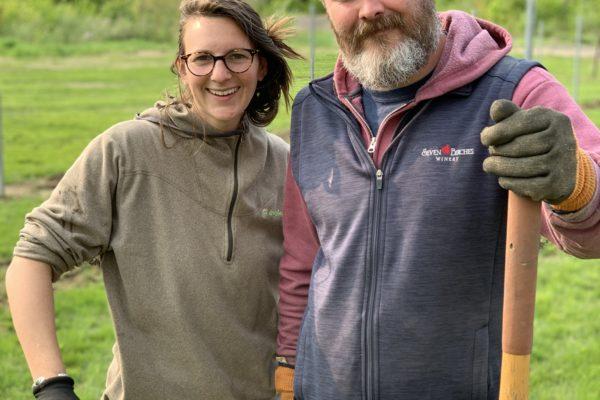 Patrick & Jillian in the Vineyard at Seven Birches