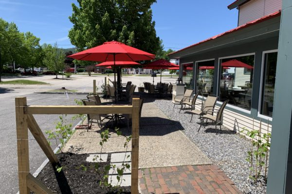 Entrance to the Outdoor Patio at the Atrium Tasting Room