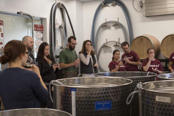 Wine tasting in Seven Birches Winery