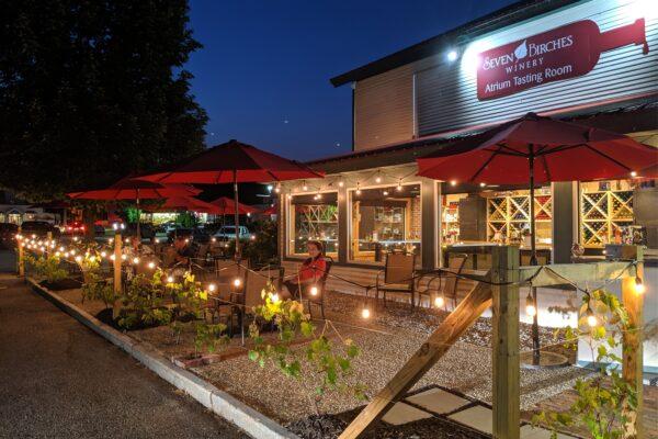 Atrium Wiine Bar at Night