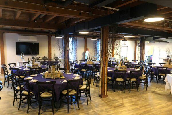 Dinner Set Up of Atrium Events Venue