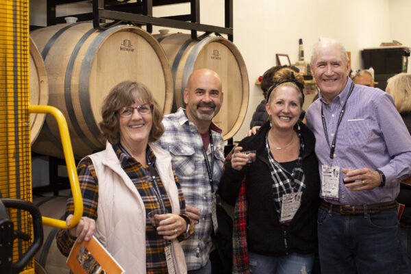 Intimate tour of winery.
