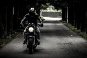 motorcycle with rider for local seo