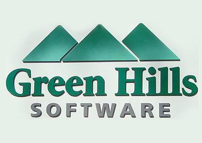 Green Hills Software Logo & Building Signage