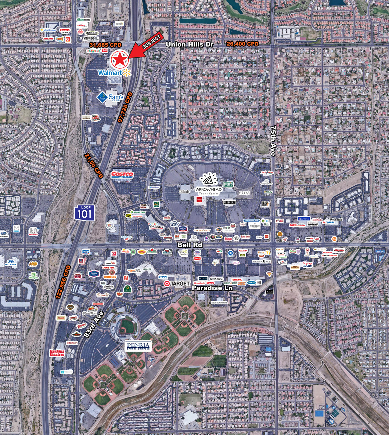 Union Hills Dr and Loop 101 - SWC 3