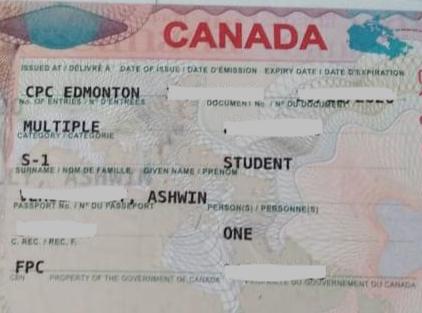 Ashwin student visa Novus Education