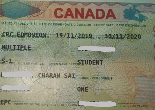 Charan Sai student visa Novus Education