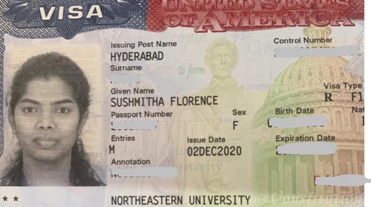 Sushmitha student visa Novus Education