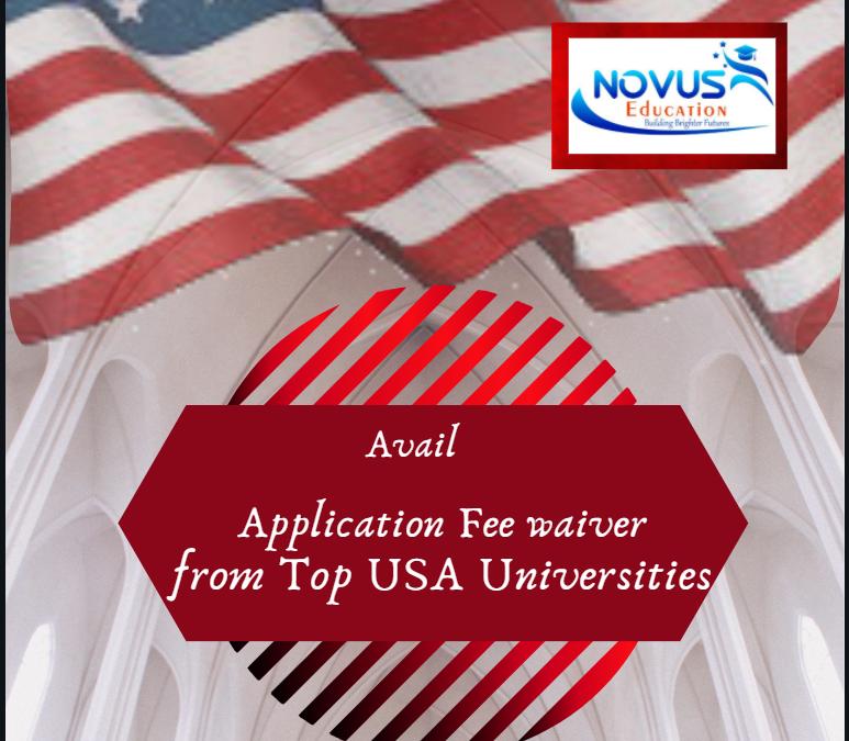 USA Universities – Application Fee Waiver list