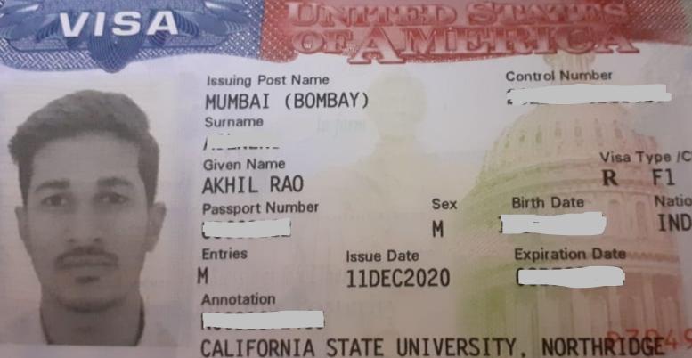 Akhil student visa Novus Education
