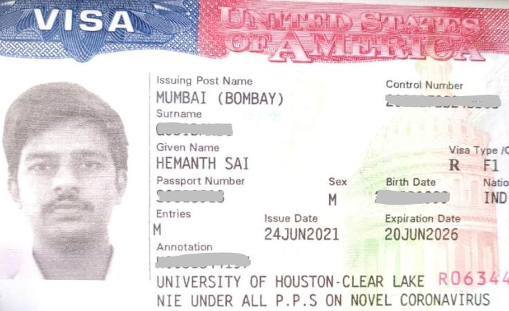 Hemanth student visa Novus Education