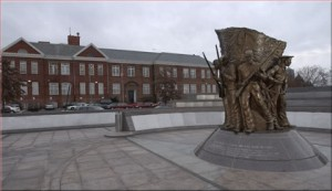 The Spirit of Freedom: African American Civil War Memorial sculpture and its Wall of Honor by artist Ed Hamilton.