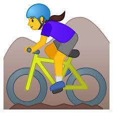 dark hair bike emoji