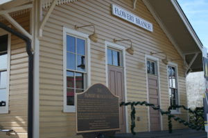 Flowery Branch GA Lawyer Train Depot near Municipal Court