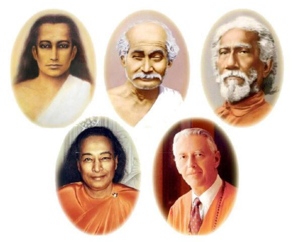 Babaji, Lahiri Mahasaya, Swami Sri Yukteswar, Paramahansa Yogananda, Roy Eugene Davis